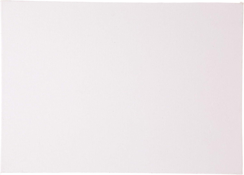 Pack de 3 Baker Ross- Lienzo A3 en blanco con imprimaci/ón y tensado ideal para pintar cuadros