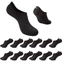 Chalier 12 Pares Calcetines Invisibles Hombre Mujer Calcetines Tobilleros Cortos Deporte Algodon Blanco Negro Gris EU39…