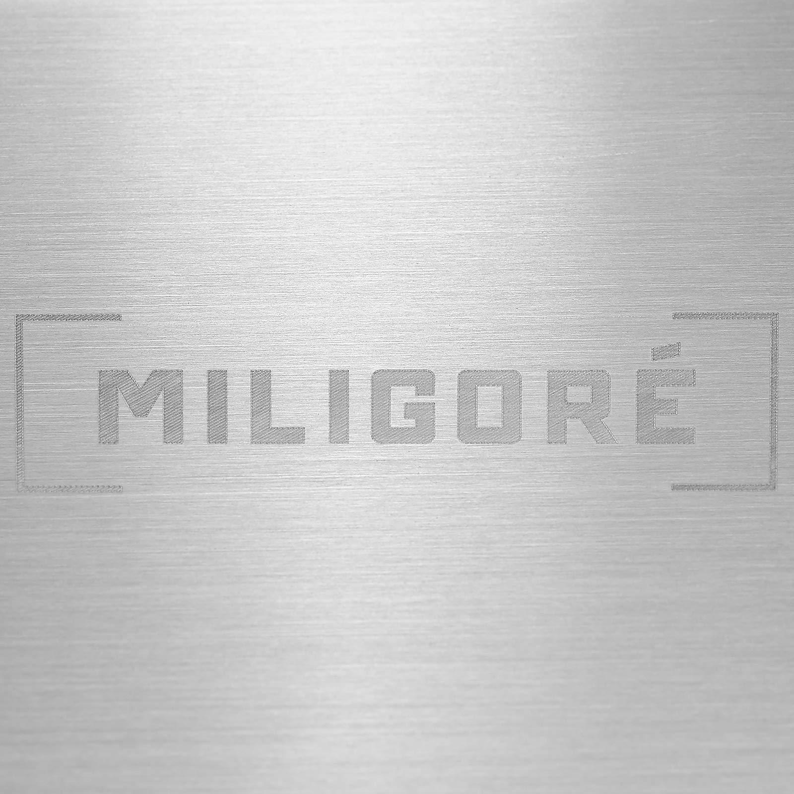 Miligore 30'' x 18'' x 9'' Deep Single Bowl Undermount Zero Radius Stainless Steel Kitchen Sink - Includes Drain/Adjustable Dish Rack by Miligore (Image #4)