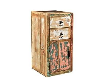 Woodkings Bad Unterschrank Kalkutta Recyceltes Holz Bunt Rustikal