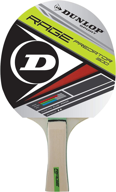 Dunlop BT Rage Predator - Pala de Ping Pong, Color Blanco
