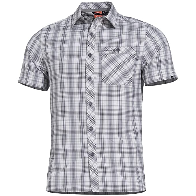 PENTAGON Hombre Scout Camisa Manga Corta WG Checks: Amazon.es ...