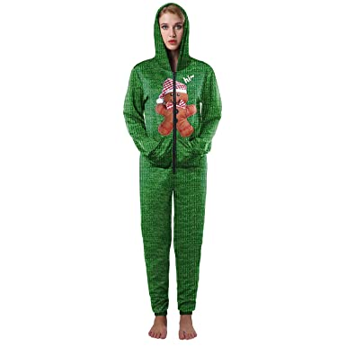 Ruanyi Navidad Occident 3D Print Oso Verde Otoño Invierno Batas Poliéster Spandex camisa de fondo para mujer (Color : Multi-colored, Size : Xl/xxl): ...