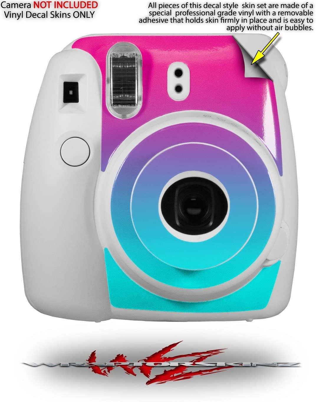 WraptorSkinz Skin Decal Wrap for Fujifilm Instax Mini 8 Camera Camouflage Pink CAMERA NOT INCLUDED