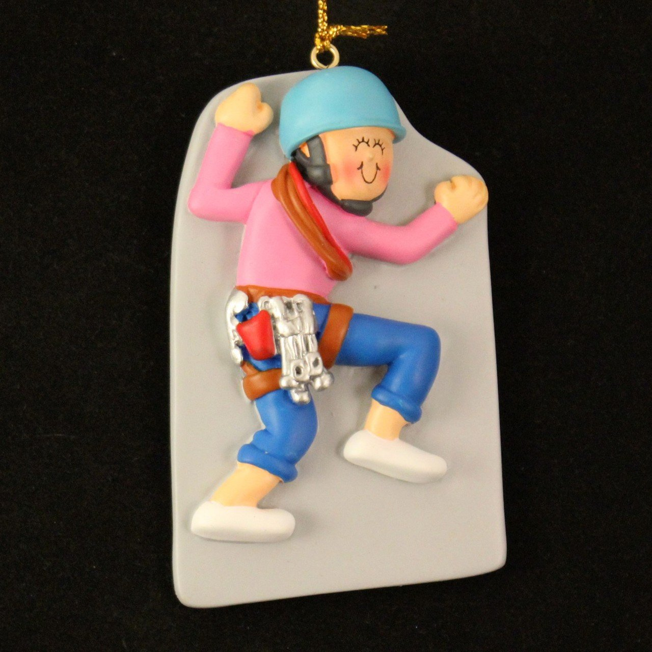 Rock climbing christmas ornaments - Female Climbing Christmas Ornament