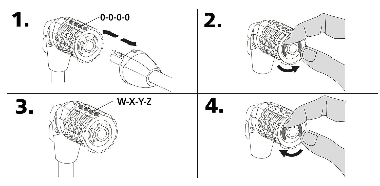 10mm x 900mm, 4-stellig Stanley Fahrradschloss Zahlenschloss S741-151