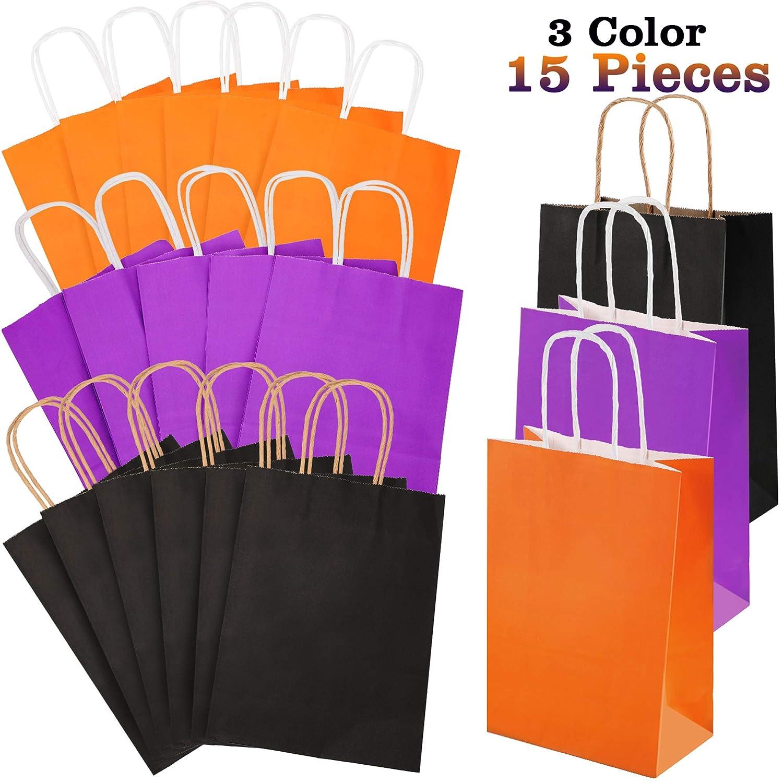 Amazon.com: 15 bolsas de papel de Halloween de colores con ...