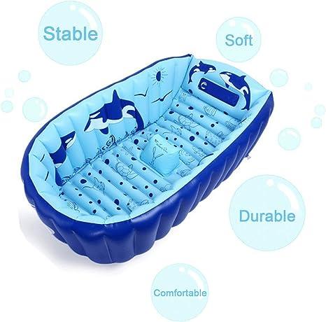 E. Baños vida inflable bebé bañera portátil baño jardineras y ...