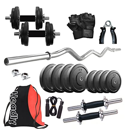 Headly 12kg combo3 hr home gym: amazon.in: sports fitness & outdoors