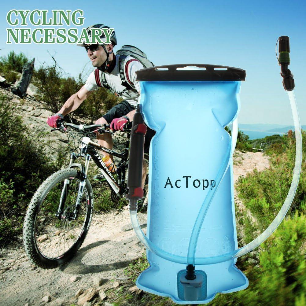 AcTopp Bolsa de Agua Portátil 2L de Hidratación Vejiga de Agua con ...