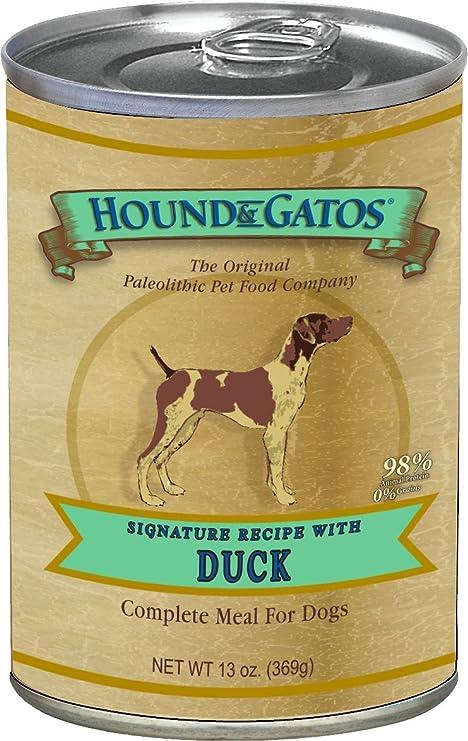 Hound & Gatos Grain Free Duck Canned Dog Food - 13 oz (12 ...
