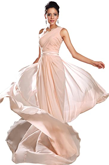 e1a3407f1e952 eDressit New Pink One Shoulder Evening Dress (00131501) at Amazon ...