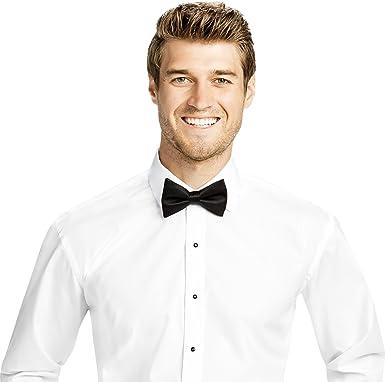 Real Cotton de los hombres Camisa de vestir ajustada o la camisa del smoking, convertible para el brazo, Corre Collar Estilo Clark: Amazon.es: Ropa y accesorios