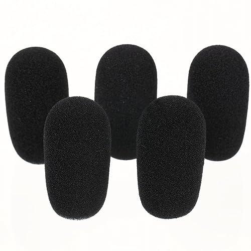 GONKISS ヘッドセット インカム マイク風防 マイクスポンジ 内径12mm 5個セット 黒 GON03