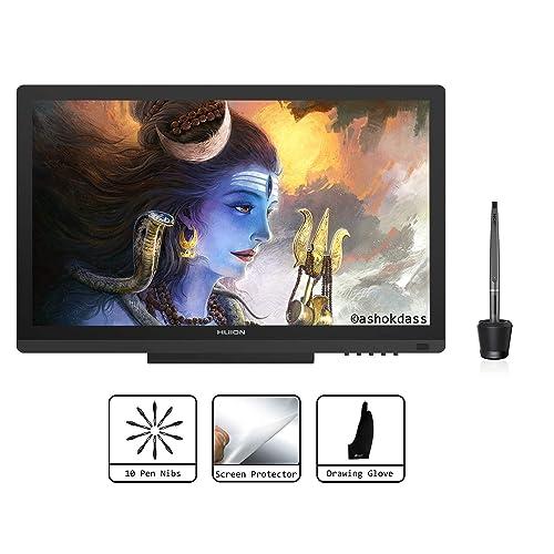 Huion KAMVAS GT 191 Tabletas gráficas de 19 5 pulgadas Monitor de dibujo digital con pantalla de lápiz HD con 8192 niveles de presión de lápiz y tipo IPS LCD