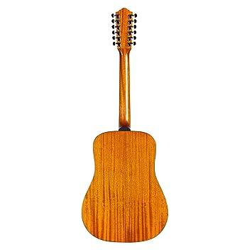 Hermandad d-1212 oeste guitarra acústica de 12 cuerdas: Amazon.es ...