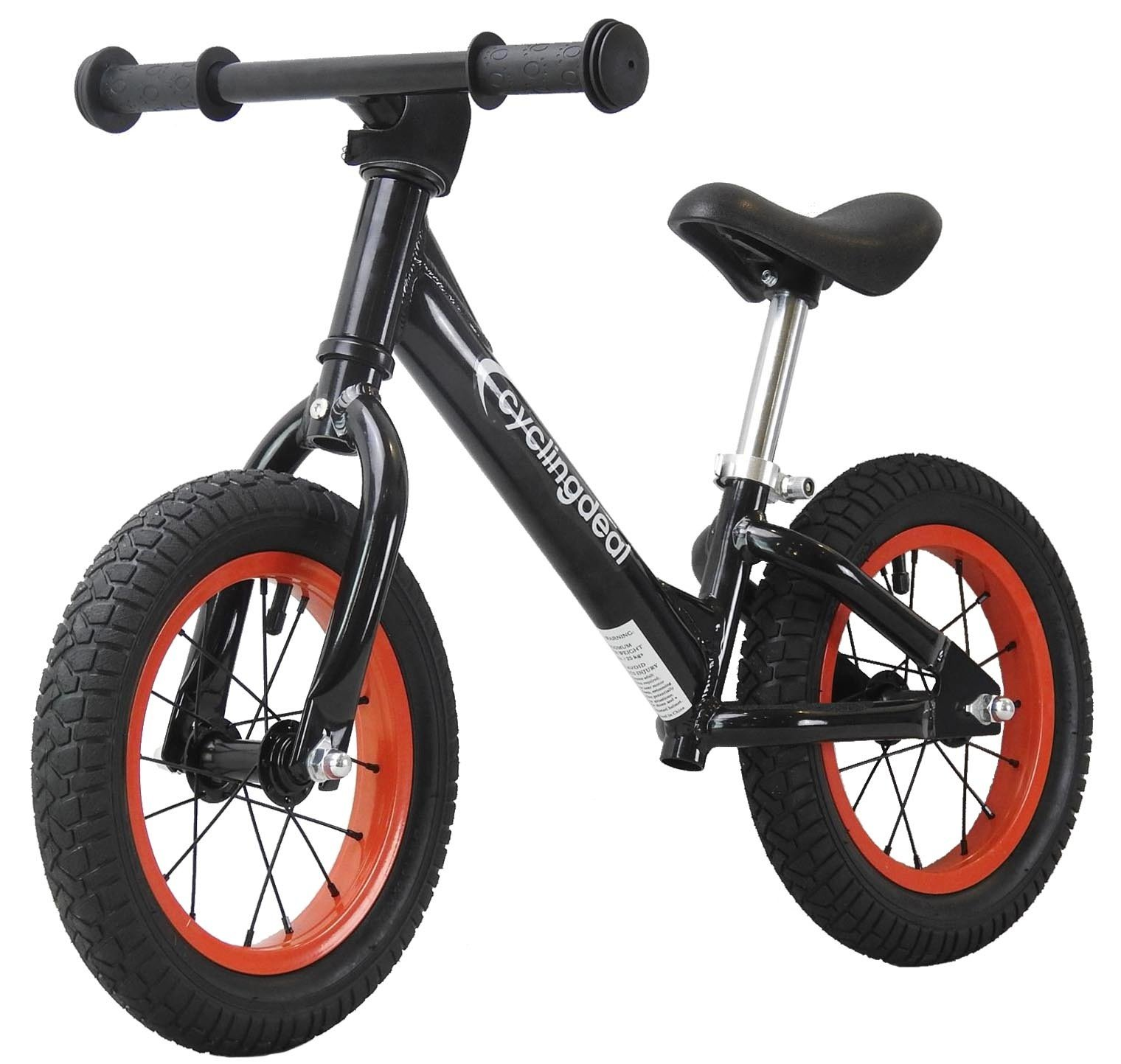 CyclingDeal Alloy Kids Push Balance No-Pedal Bike 12'' Black by CyclingDeal (Image #1)