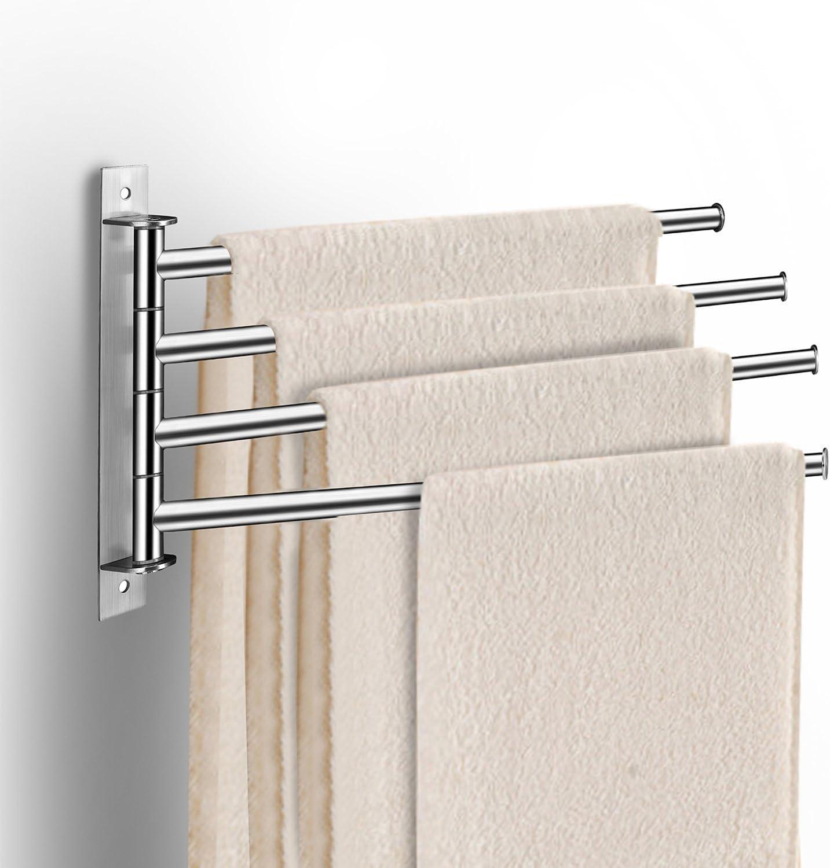 Barre Fixe 6 tubes Acier inoxydable 60cm 1.4 kg Porte serviettes double