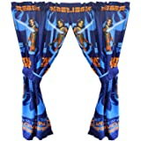 "Star Wars Rebels Blue 63"" Drapery/Curtain 4pc Set (2 Panels, 2 Tie backs) - Official Star Wars Product"