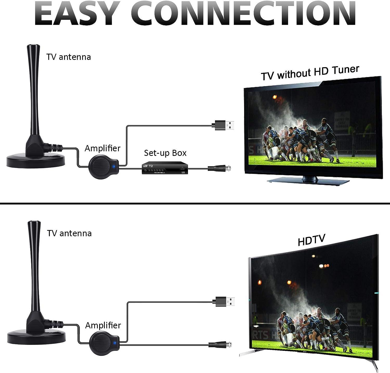 Antena TV Interior, Antena HDTV Digital De 150 Millas Con ...