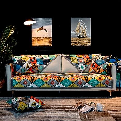 Cutecocoa Moda nórdica Suave Chenille cojín del sofá Simple ...