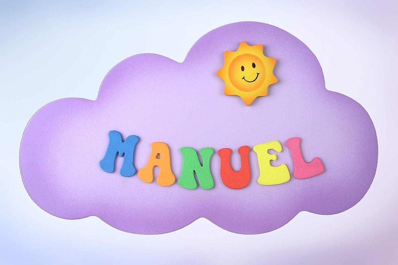 Placa Cartel decorativo infantil de madera forma de