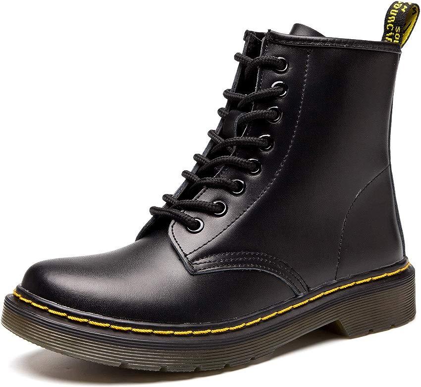 Botas Mujer Invierno Hombre Botas Piel Botines Planas Manoplas Boots Zapatos Cordones clásicos Calientes Impermeables