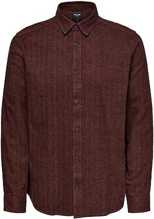 Only & Sons Onsbrad LS Herringbone Shirt Noos Camisa para Hombre