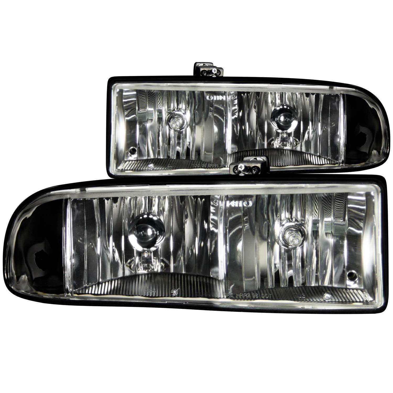 1998 2004 Chevy Blazer S10 Clear Headlights Lamps 8 Head Light Wiring Diagram 2000 Led Fog Bumper Automotive