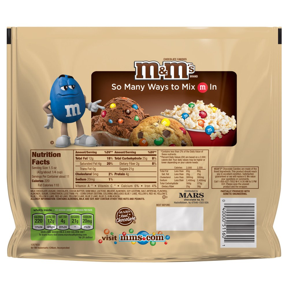 M&M'S Almond Chocolate Candy Family Size 15.9-Ounce Bag (Pack of 8) by M&M'S (Image #6)