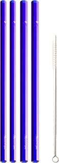 """product image for Simply Straws Straight 2 Classic & 2 Wide 8""""+ Brush (Blue)"""