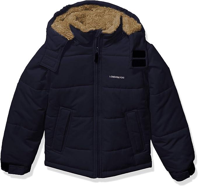 Super Navy LONDON FOG Boys Little Active Puffer Jacket Winter Coat 4