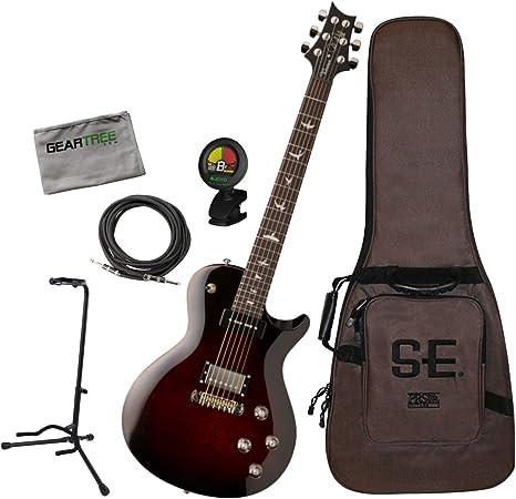 PRS SE Chris Robertson Fire Red Burst Singlecut - Guitarra ...