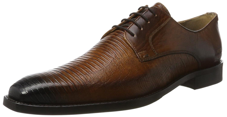 MELVIN & HAMILTON MH HAND Herren MADE Schuhe OF CLASS Herren HAND Martin 1 Derby Braun (Venice Guana / Venice Wood / Wood / Toe E-Blau, Hrs) 3f6938