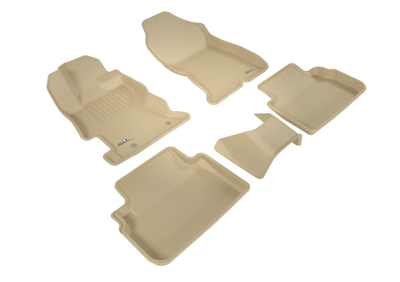 L1SB02221501 Kagu Rubber 3D MAXpider Second Row Custom Fit All-Weather Floor Mat for Select Subaru Impreza// Crosstrek Models Gray