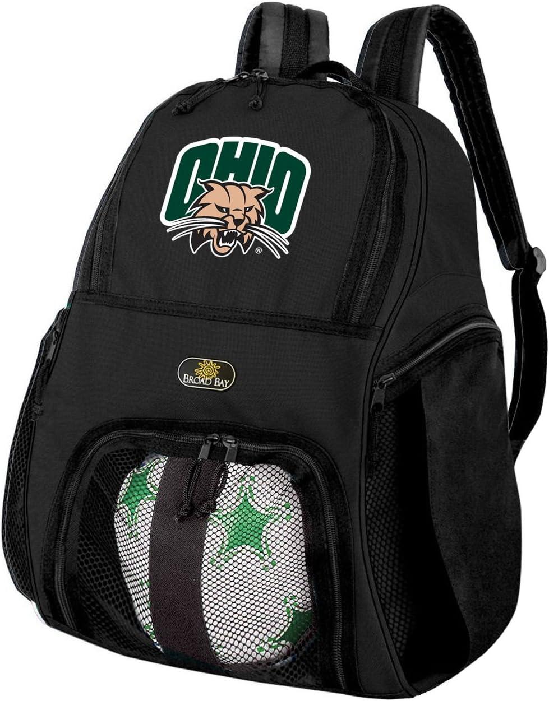 オハイオ大学サッカーバックパックまたはOhio Bobcatsバレーボールバッグ