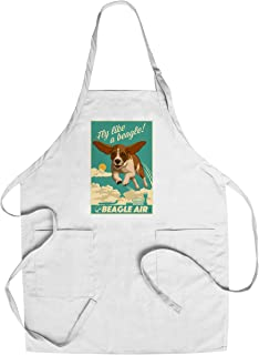 product image for Beagle - Retro Aviation Ad (Cotton/Polyester Chef's Apron)