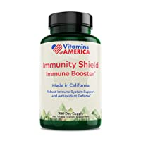 Vitamins of America Immunity Shield (6+ Month Supply) Immune System Support and Antioxidant Defense with Vitamin C 1000 mg, Vitamin D3 2500 IU, Zinc 20 mg, Made in California [200 Tablets]