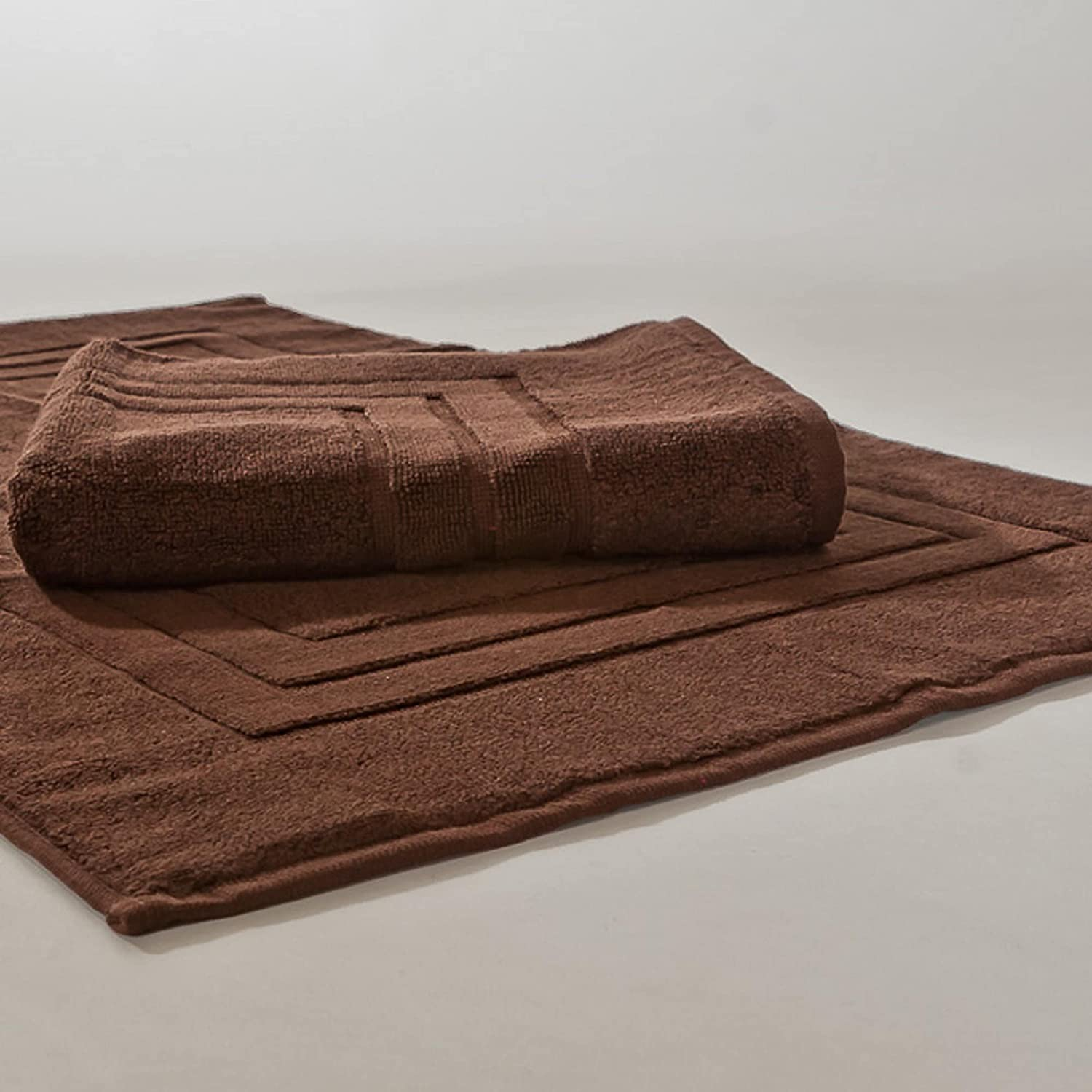 Homestead Textiles, Inc.. Homestead Textiles 900 GSM Bath Mats (Set of 2) Brown durable modeling
