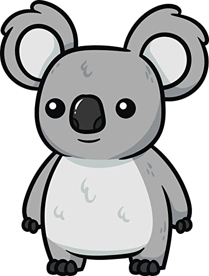 Amazon Com Adorable Wild Grey Australian Koala Bear Clipart