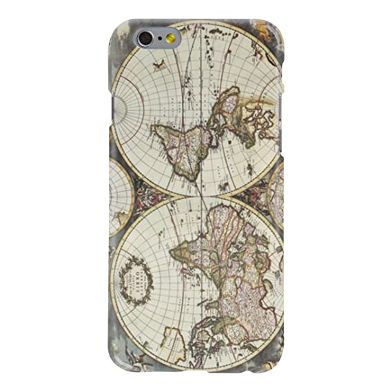 World Map Iphone 6s Case.Amazon Com Iphone 6s 6 Case Vintage World Map Hard Case Cover For