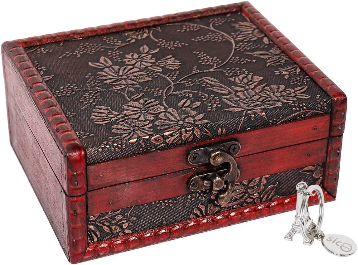"SICOHOME Treasure Box, 5.46"" Tarot Cards Box for Trinkets,Taro Cards,Gifts and Home Decor"
