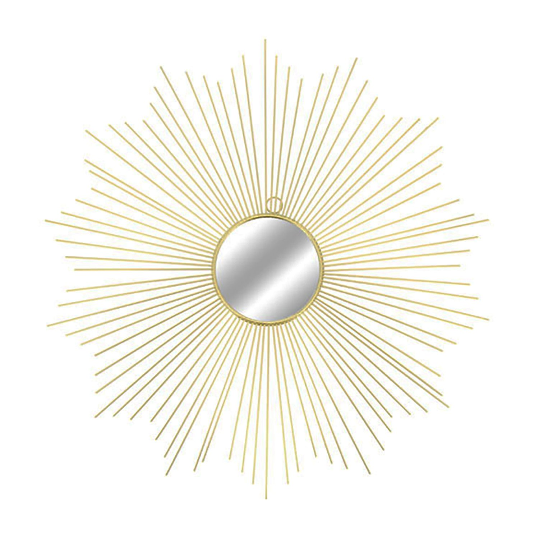 in Metallo /Ø 65 cm Mojawo Specchio da Parete Rotondo Colore: Oro