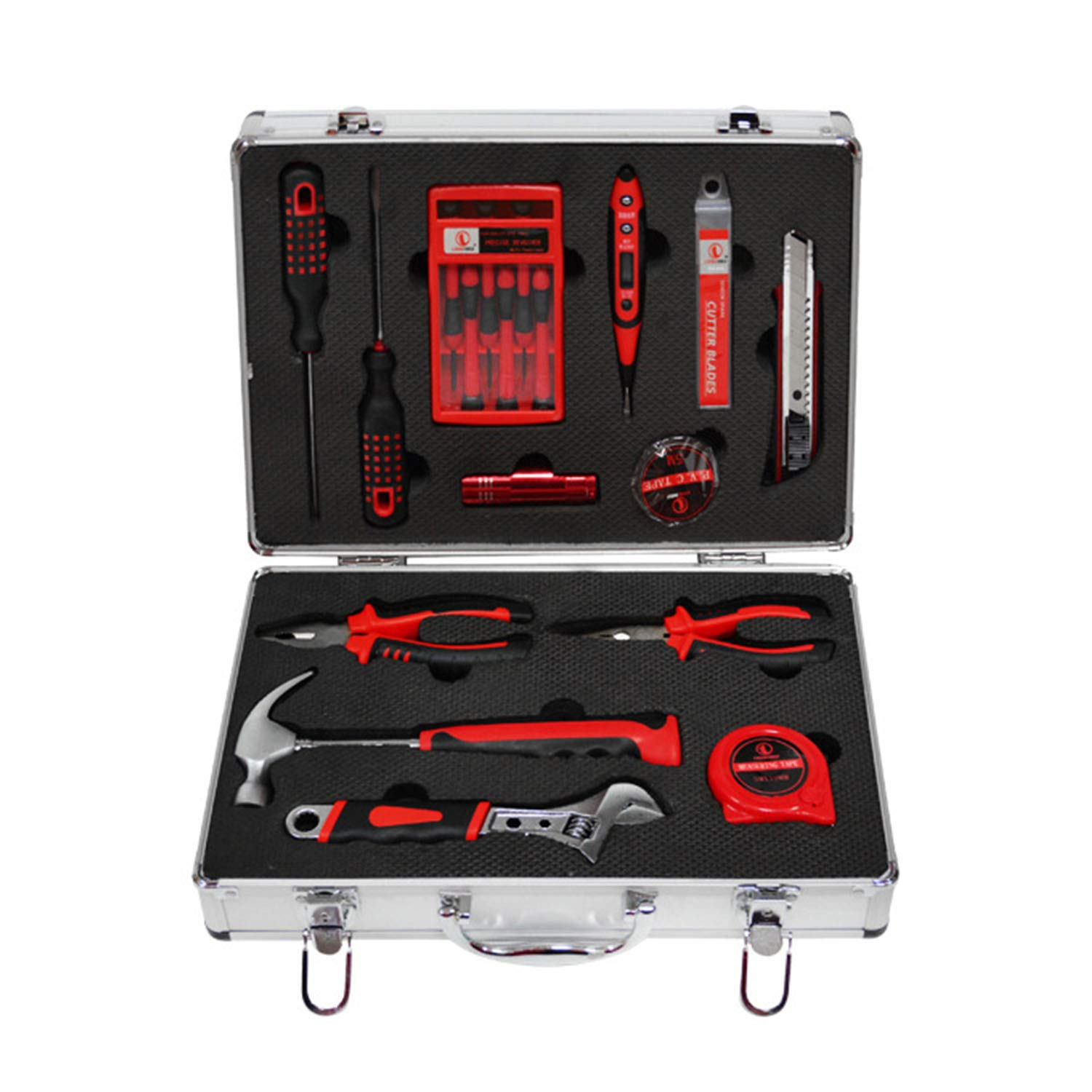 Your only family Practical Set 28 Piece Set High-Grade Aluminum Box Set Toolbox Hardware Tool Durable