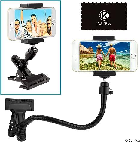 Soporte para teléfono / cámara con cuello de ganso flexible y ...