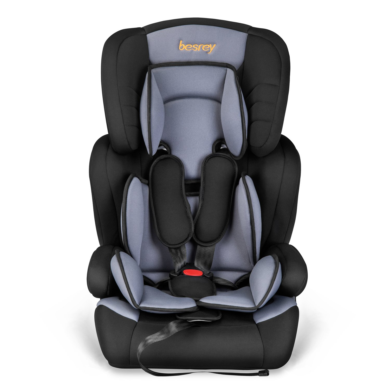 Besrey Car Seat Children Group 1 2 3 Car Booster Fit from 9 Months-12 Years Black and Blue
