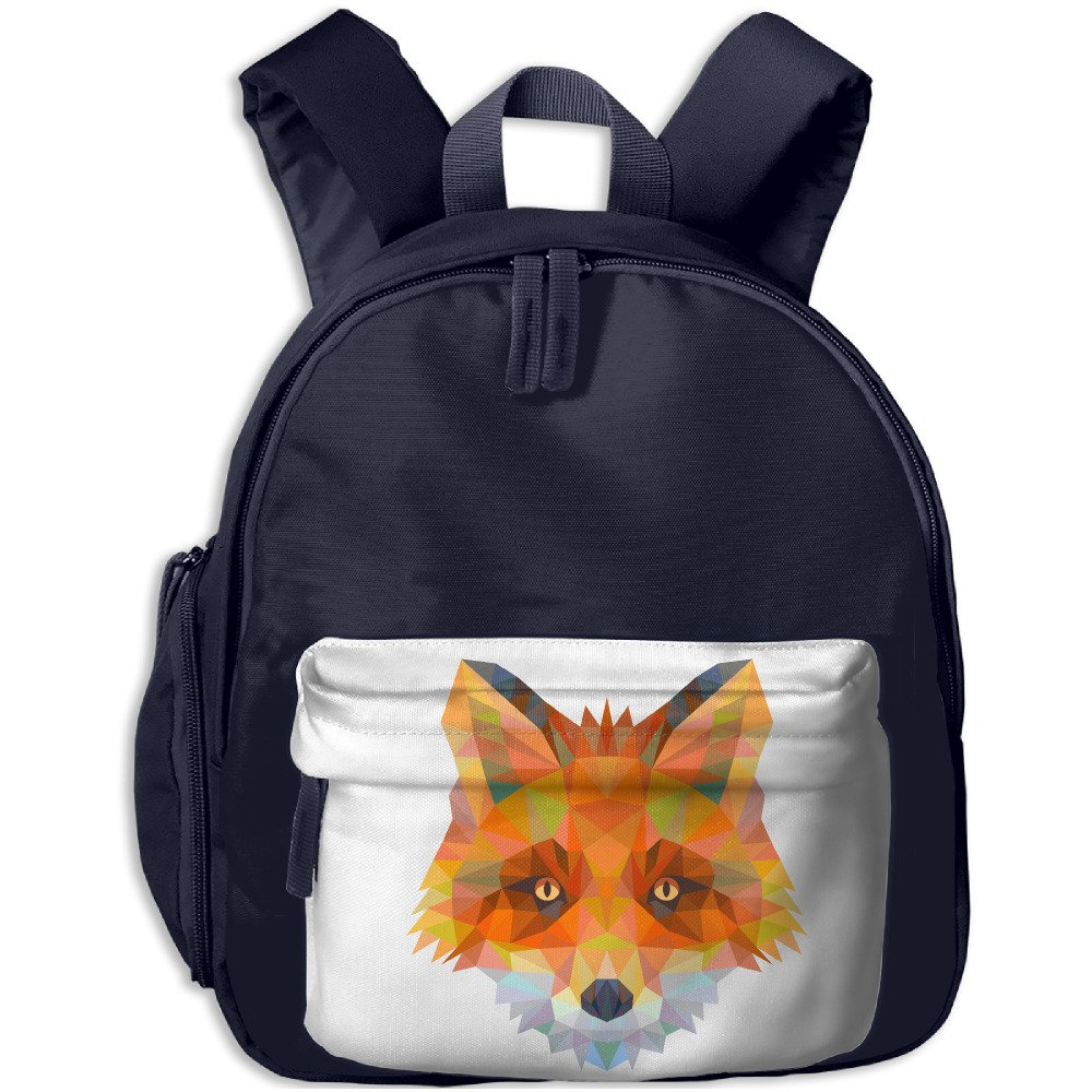 dc4f4618a6 well-wreapped Triangle Red Fox Kids Lightweight School Kindergarten Backpack  Book Bag Backpack Navy