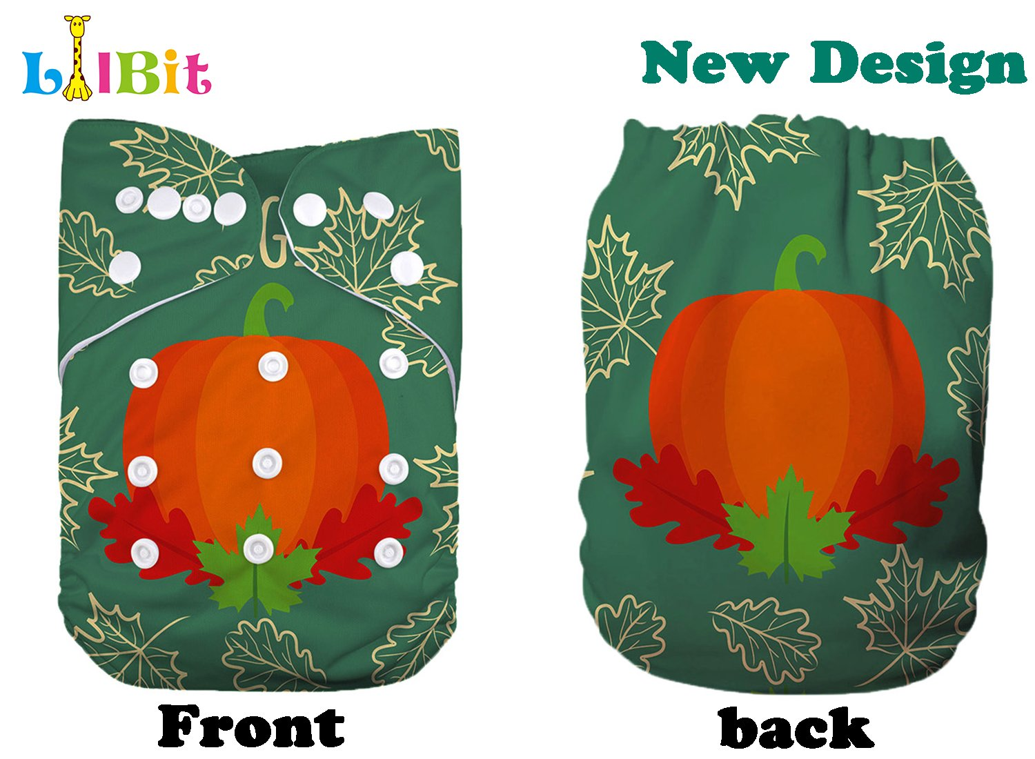CH04 Lilbit Merry Christmas Baby Cloth Diapers