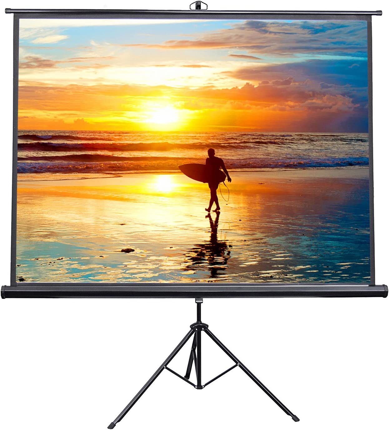 "VIVO 100"" Portable Indoor Outdoor Projector Screen, 100 Inch Diagonal Projection HD 4:3 Projection Pull Up Foldable Stand Tripod (PS-T-100): Electronics"