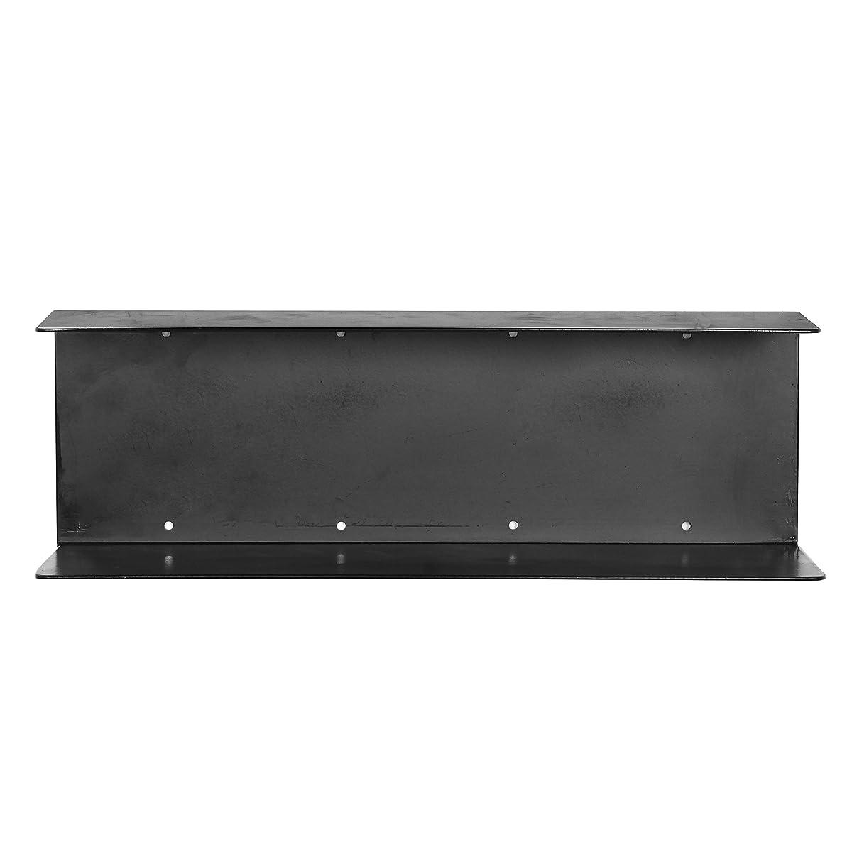 Modern Minimalist Black Metal Wall Mounted 17 inch Floating Shelves/Hanging Storage Rack Supply Shelf